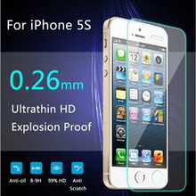 Protective glass on the iPhone 5s 9H 2.5D Ultra Thin Explosion proof Tempered Glass Screen Protector For iPhone 5 5C 5S