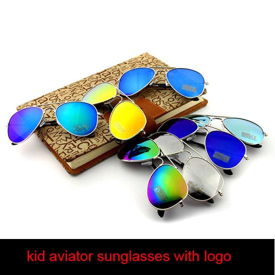Logo Sunglass Glasses kids children Aviator Mirror With RB logo 2015 Fashion Boys girls glasses shades real Cool Sunglasses(China (Mainland))