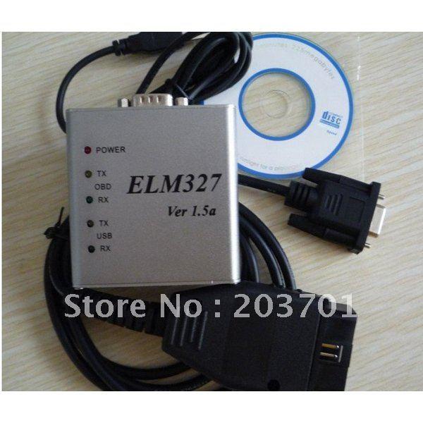10PCS/LOT Hot Selling ELM327 USB Interface,USB ELM327 Scanner,ELM-327 Metal(China (Mainland))