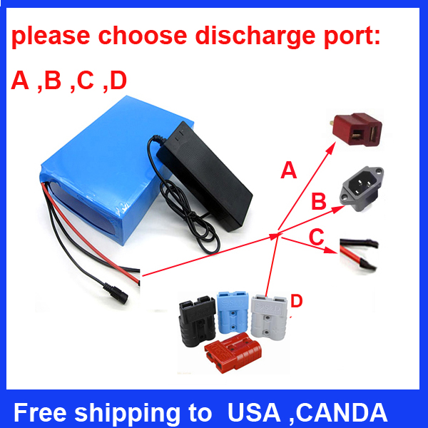 Battery customization lithium ion battery 36v 50ah battery pack and free charger(China (Mainland))
