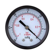 High Quality Mini Dial Air Vacuum Pressure Gauge Meter Stable Performance Pressure Gage Great Double Scale Vacuum Manometer(China (Mainland))