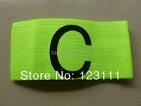 Soccer Football Games Gear Adjustable Captain Armband Player Arm Band Fluroescent Green 5pcs/pack