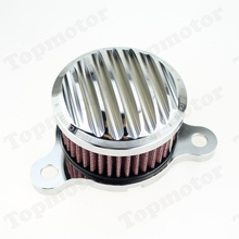 Free shipping Silver Skull CNC Air Cleaner Intake Filter Air Filter for Harley Sportster XL883 XL1200 2004 - 2015(China (Mainland))