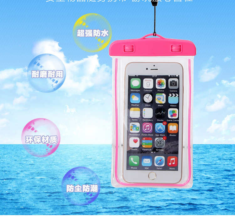 Luminous waterproof phone screen protector Pouch bag Doogee Shoot 2 X10 F7 pro Shoot 1 T3 T5 Lite T5S T6 X5 X5S X7 X9 Mini