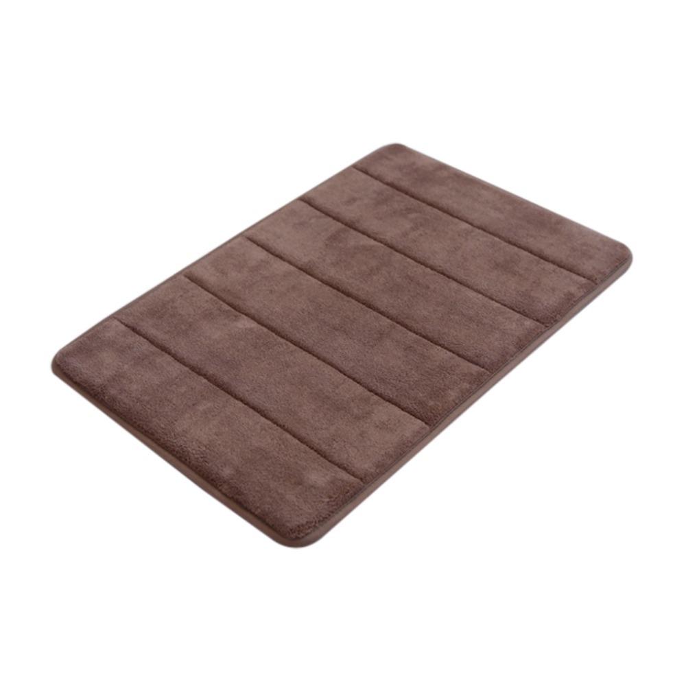 Luxury Coral Velvet/Memory Foam Non-Slip Back Rug Soft Bathroom Carpet Memory Foam Bath Mat Pure Color(China (Mainland))