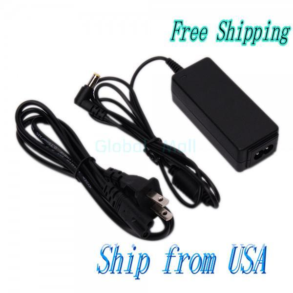 Ship From USA Laptop AC Adapter 19V 1.58A 30W 1.7*5.5mm + US 2-Pin Power Cord N6312(China (Mainland))