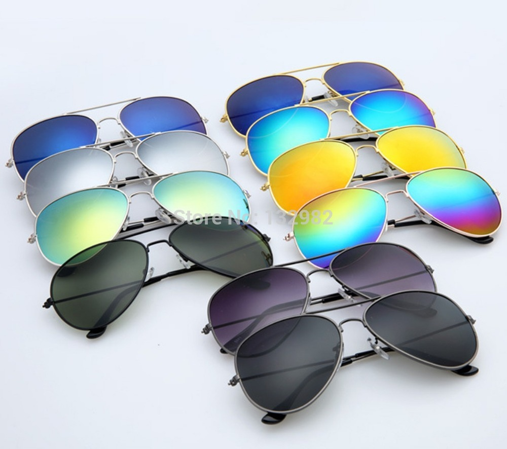 Hot Sales Fashion Star Sunglasses Women Men Aviator Polarized Mirrored Lens UV Protection Sun Glasses Oculos De Sol 3025(China (Mainland))