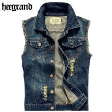 Men Jeans Vest Punk Style 2016 Spring New Fashion Gilet Men's Sleeveless Denim Jackets  All-match Style Hip Hop Vest  MWB135(China (Mainland))