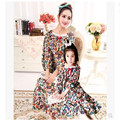 Nightgowns for Kids Girl autumn Long Nightdress Cotton Linen Robe mother and daughter Long Nightwear