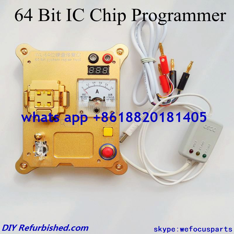 64 Bit IC Chip Programmer 64 hard disk test for iphone hard disk repair instrument for iPhone5s / 6 /6plus for ipad change SN(China (Mainland))