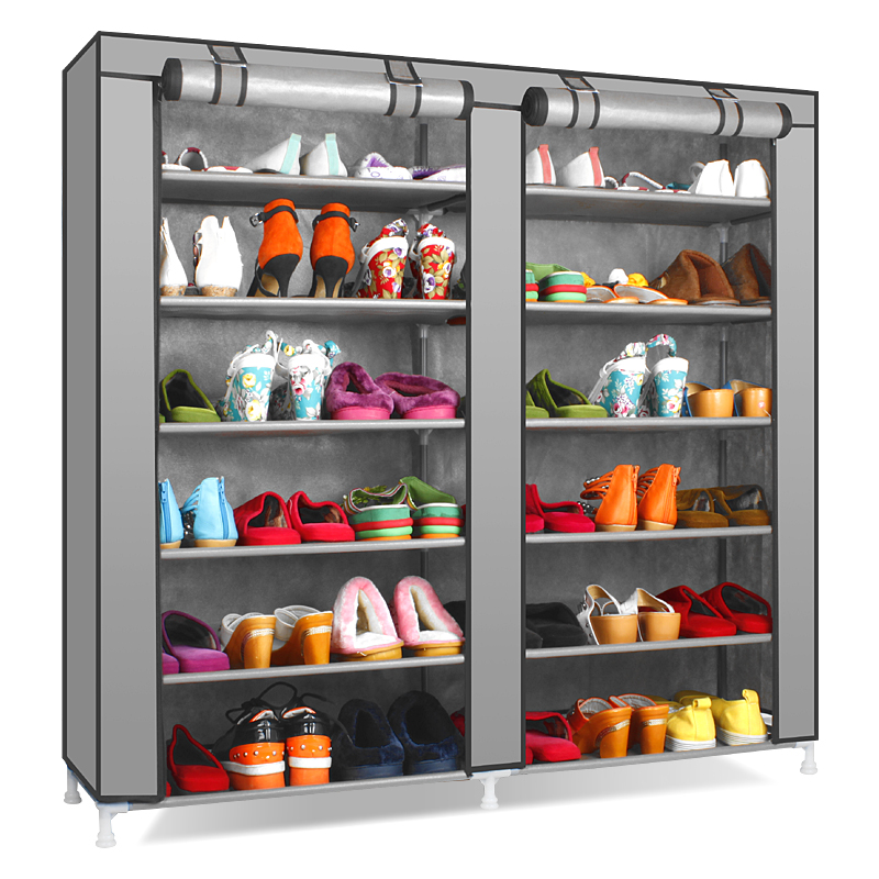 Reinforcing steel double simple shoe storage rack assembly Cheap thicker dust Specials<br><br>Aliexpress