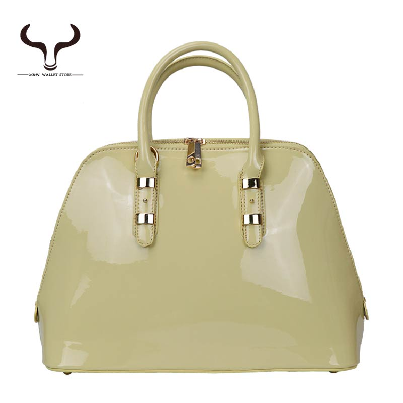 New Arrivals Fashion Classic Women's Totes European and American Style Patent Leather High Quality Women Bag YF/712(China (Mainland))