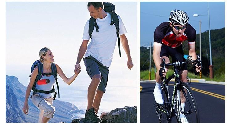 ถูก คลั่งS1บลูทูธกลางแจ้งจักรยานลำโพงแบบพกพาซับวูฟเฟอร์เบสลำโพง4000มิลลิแอมป์ชั่วโมงธนาคารอำนาจ+ไฟLED +