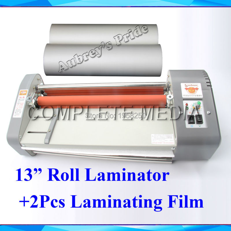 "A3 13"" Thermal Hot Cold Laminating Machine Mounting Roll Laminator + 2 Rolls Bopp 200M Film(China (Mainland))"