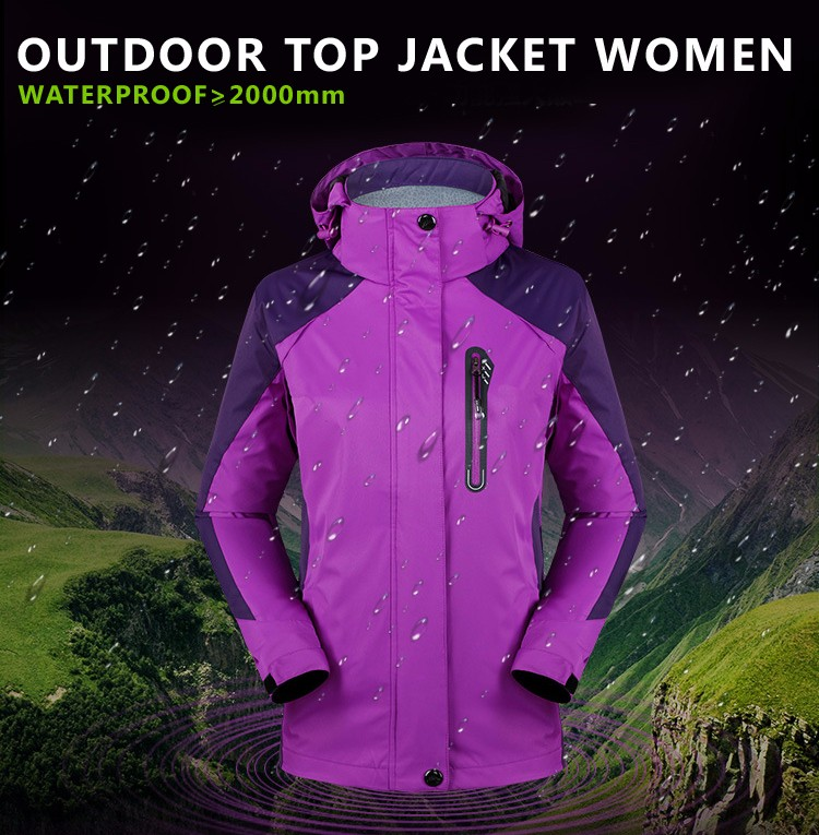 Single Layer Spring Summer Outdoor Jacket Women Waterproof Jacket Camping Hiking Rain Jacket Sport Windbreaker Women Oversize
