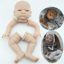 free shipping hotsale doll kit wholesale  DIY blank kit soft  vinyl reborn doll kit(China (Mainland))
