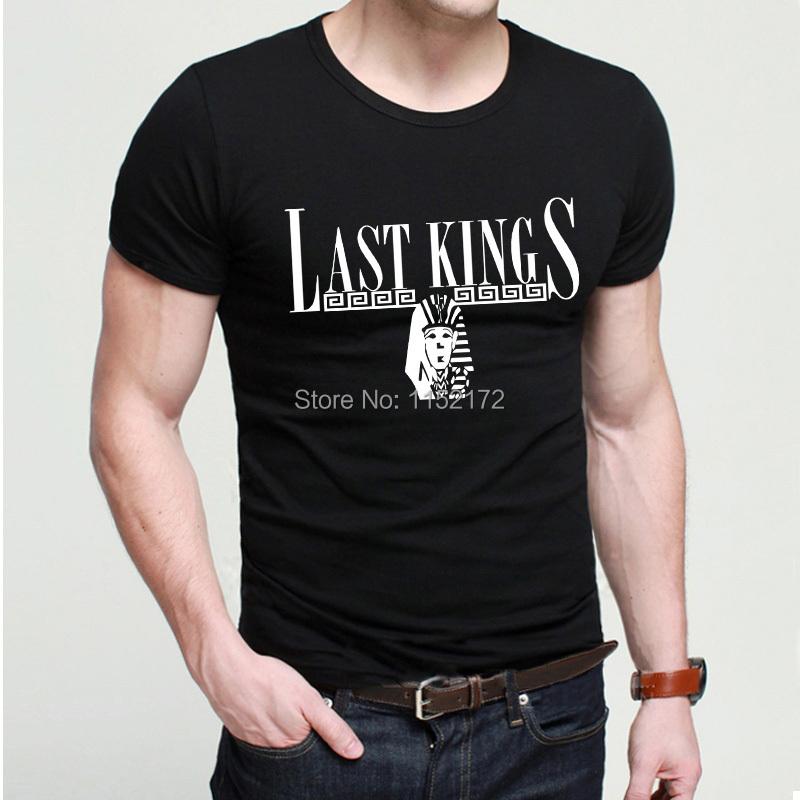 free shipping famous men LK tshirts last kings t-shirts fashion summer style last king shirts short sleeve cool tees(China (Mainland))