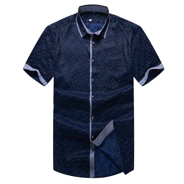 2016 новый бренд мужские рубашки с коротким рукавом свободного покроя мужчин уменьшают ...