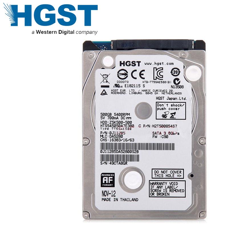 "Laptop Notebook 500GB HDD Hard Drive Disk HGST 500G 2.5"" 5400RPM 8M SATA2 SATA II 7mm Slim Mute HTS545050A7E380(China (Mainland))"