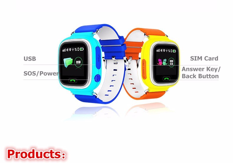image for GPS Q90 Touch Screen WIFI Positioning Smart Watch Children SOS Call Lo