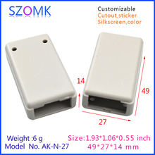 2015 new plastic electrical junction box (50 pcs) 49*27*14mm enclosures electronics, electronics outlet boxes - Enclosure-world Manufacture store