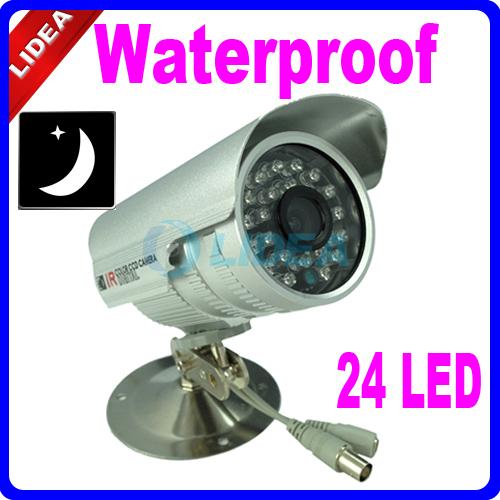 24 LED IR Night Vision CCTV Waterproof Outdoor Camera EMS S-02