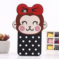 3D Cute Cartoon Soft Silicone Case For iphone 5 5s 6 6s 6plus lovely Wave Point