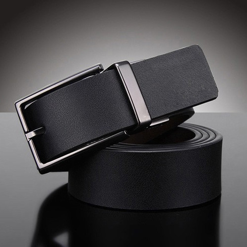 Top-Quality Men's Thicken Genuine Cow Leather Logo Belt With Single Pin Buckle Original Casual Dress Jeans Belt Free Shipping(China (Mainland))