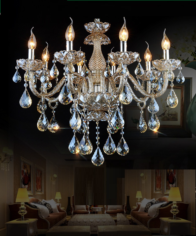 FREE SHIPPING chandelier crystal bedroom living room chandelier light crystal lighting chandeliers Luxury Chandelier Lighting(China (Mainland))