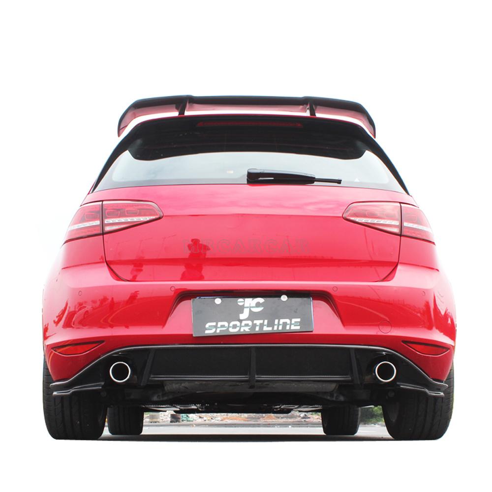 MK7 R stylling carbon fiber car rear bumper diffuser lip for VW golf MK7 GTI bumper 2014UP<br><br>Aliexpress