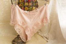 M380 New Arrival 2pcs/lot mid waist lace cotton women's plus size XL XXL XXXL XXXXL comfortable lingerie panties