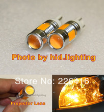 Free shipping,2 x Amber Orange T10 T15 7.5W Lens Cree LED Q5 High Power Car Signal Tail Turn For Toyota Prius 2005-2012(China (Mainland))