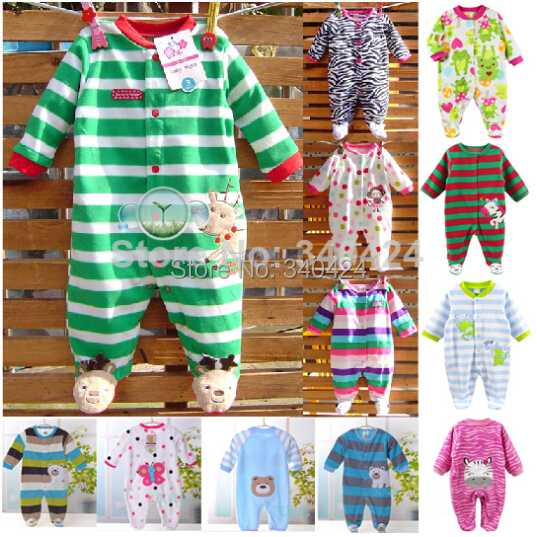 Baby clothing ! 2015 carters baby girl Newborn clothes polar fleece fabric romper long-sleeve baby product , boys baby rompers(China (Mainland))