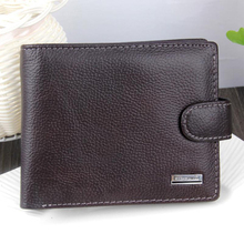 Luxury Mens Wallet Genuine Leather Wallet for Men Carteira Masculina Trifold Real Cowhide Purse Credit Card