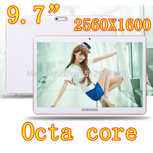9.7 inch 8 core Octa Cores 2560X1600 DDR3 4GB ram 32GB 8.0MP Camera 3G sim card Wcdma+GSM Tablet PC Tablets PCS Android4.4 7 8 9