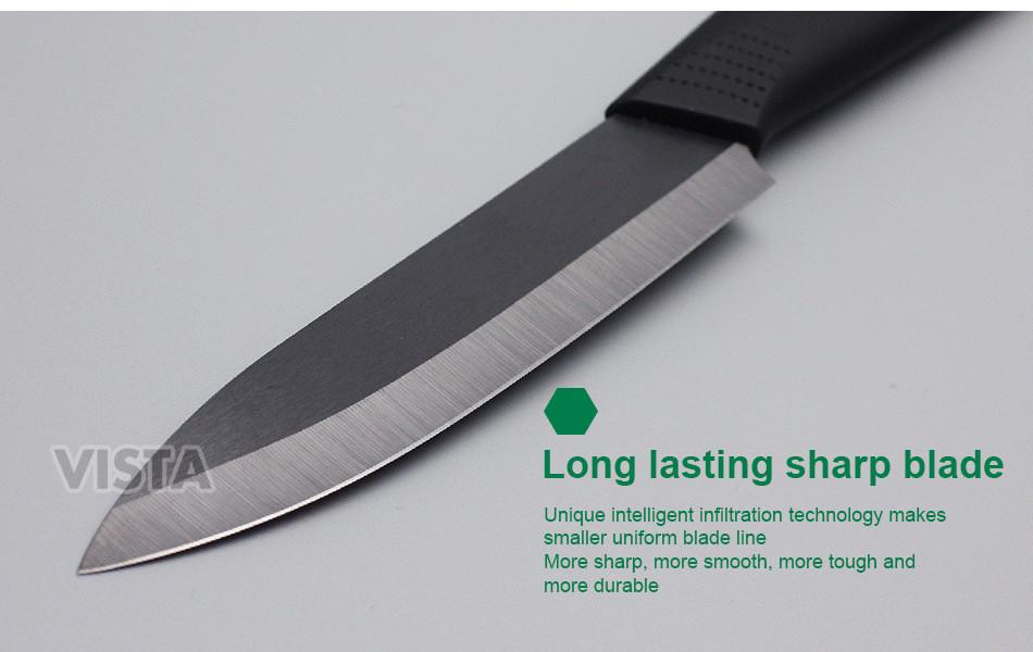 High Quality Kitchen Ceramic Knife set 3 4 5 6 inch Zirconia Black Blade Paring Fruit