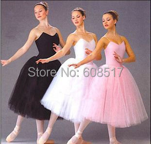 New Long Adult Ballet Tutu Dress Party Practice Skirts Clothes Fashion Dance Costumes(China (Mainland))