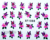 35 piece Designs Flower Water Decals Butterfly Water Transfer Nail Stickers New 2013 New Free Shipping