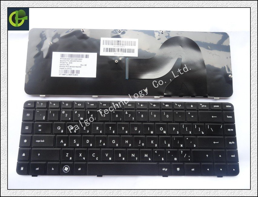 Russian Keyboard for HP Compaq Presario CQ56 G56 CQ62 G62 AX6 RU Black AEAX6700310 2B-50316Q100 606685-251 keyboard(China (Mainland))