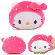 Lovely Desgin Cartoon Strawberry Hello Kitty Mouse Rilakkuma bear Plush Girls Kids Mini Coin Purse Wallet