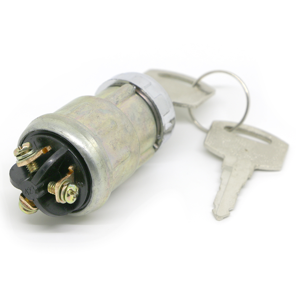 Universal Car Auto Replacement 3 Wires Ignition Switch Lock Cylinder W 2 Keys Motorcycle Motorbike Parts