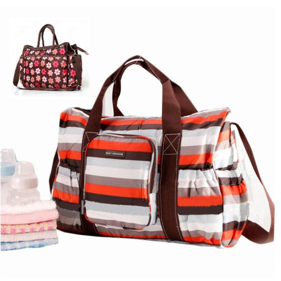 Fashion Large Capacity Flower Diaper Bag Nappy Bag Colorful Mommy Babies Bag With Diaper Cusion<br><br>Aliexpress