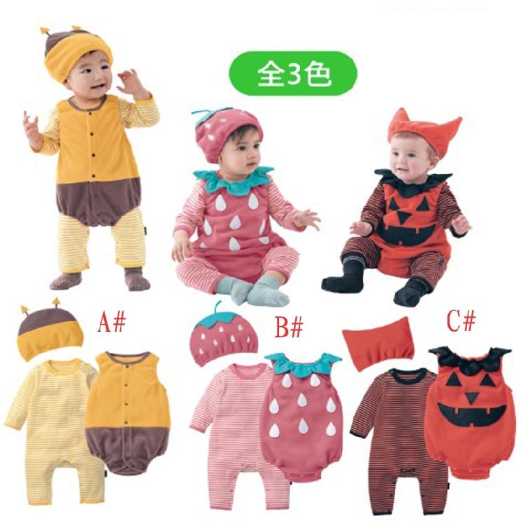 Halloween baby costume pumpkin strawberry bee clothing set 3pcs hat+romper+bodysuit infant toddler kids boys girls clothes <br><br>Aliexpress