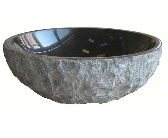 Rock Sink Bowl : Natural stone sinks round type rough surface bowl countertop sink from ...