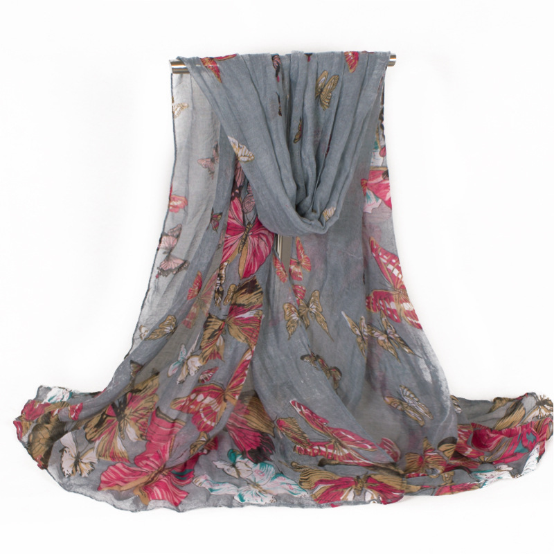New Design Famous Brand Luxury Printing Butterfly Women Scarf Pashmina 180*80Одежда и ак�е��уары<br><br><br>Aliexpress