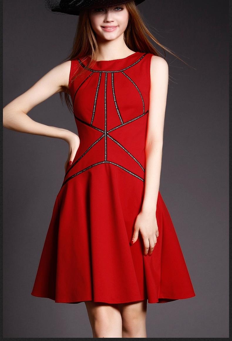 2016 Brand New american apparel Summer Fashion Europe Style Women Sleeveless Dress dropshipping NS9048(China (Mainland))