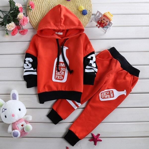 children fashion spring suits baby bottle printing long sleeve hoodies tops+pants 2 pcs sets kids clothes set JL-2227<br><br>Aliexpress