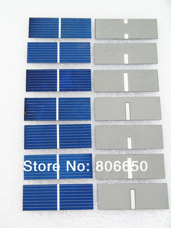 80 pcs 17.6% efficiency 52x19mm solar cell, poly crystalline solar panel DIY Kit value pack(China (Mainland))