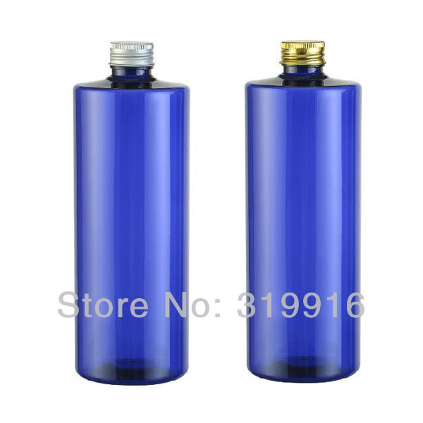Free shipping -500ml (20pc/lot) blue empty round bottles cosmetic containers,DIY oil bottle plastic with shampoo(China (Mainland))
