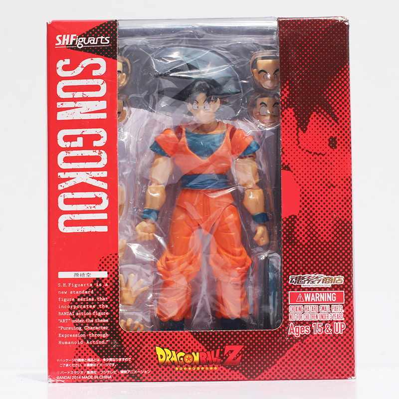 Anime Dragon Ball Z Goku Toy Figures Son Gokou PVC Action Figure Doll Toys Face Changeable Chidren Gifts 15cm Approx Retail<br><br>Aliexpress